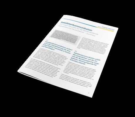Satellitenkommunikation - Wichtiger Baustein für die flächendeckende Digitalisierung Deutschlands – Summary